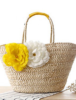 Women Straw Casual Outdoor Tote Summer