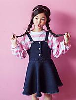 Girl's School Solid Dress