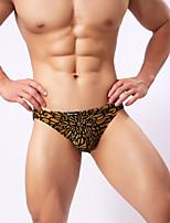 Men's sexy underwear half transparent chrysanthemum diagram sexy underwear triangle pants