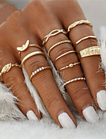 Fashion Elegant 12 pc/set Charm Gold Color Rhinestone Midi Finger Ring Set for Women Vintage Punk Boho Knuckle Party Rings Jewelry Gift for Girls