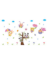 Wall Stickers Wall Decals Style Cartoon Animals PVC Wall Stickers