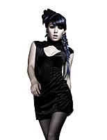 Для женщин Для клуба На выход Вечеринка/коктейль Секси Панк & Готика Шинуазери (китайский стиль)Облегающий силуэт Оболочка Маленькое