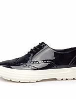 Черный-Для мужчин-Повседневный-ПолиуретанУдобная обувь-Кеды