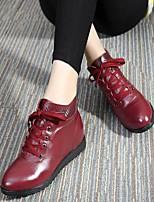 Mujer-Tacón Cuña-Confort-Zapatos de taco bajo y Slip-Ons-Informal-Cuero-