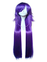 Synthetic High Temperature Fiber Purple Blonde  Cosplay Wig Woman Long Straight Hair Wigs 2 Colors