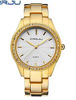 Жен. Модные часы Китайский Кварцевый сплав Группа Повседневная Черный Золотистый Розовое золото