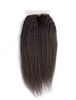 8Inch Braizlian Kinky Straight Closure Best Virgin Brazilian Lace Closure Bleached Knots closures Free/Middle/3Part Closure