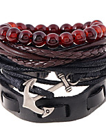 Europe And The United States Wind Back Woven Leather Hand Rope Bracelet