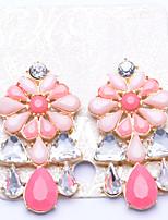 Серьги-слезки Бижутерия Мода Euramerican Драгоценный камень Сплав Бижутерия Пурпурный Бижутерия Для Для вечеринок Повседневные 1 пара