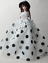 Festa/Noite Vestidos Para Boneca Barbie Smoking Para Menina de Boneca de Brinquedo