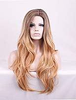 Long Body Wave Brown Women Synthetic Wig Fiber Cheap Cosplay Party Wig Hair