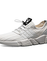 Men's Sneakers Spring Fall Comfort PU Casual Lace-up Gray Black White