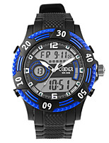 Men's Fashion Watch Digital Watch Digital Silicone Band Black