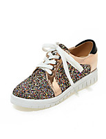 Women's Heels Spring Fall Creepers Formal Shoes Glitter Outdoor Office & Career Party & Evening Casual Creepers Sequin Lace-upSilver