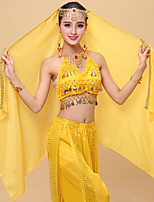 Belly Dance Veil Women's Performance Tulle Crystal / Rhinestone 2 Pieces Veil / Headpieces