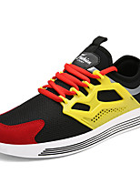 Men's Athletic Shoes Spring Summer Fall Winter Comfort PU Outdoor Casual Athletic Lace-up Black