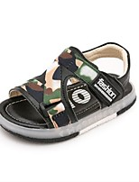 Boys' Sandals Summer Light Up Shoes Fabric Casual Flat Heel