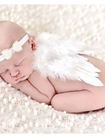 Newborn Baby's Modelling of the Angel White Photographic cloths Headwears