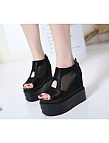 Women's Heels Summer Creepers PU Casual