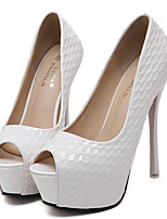 Women's Heels Spring Summer Club Shoes PU Party & Evening Dress Casual Stiletto Heel Black White