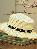 Women's Artificial Flower Straw  Floral Summer Or Spring Simple Sun Hats