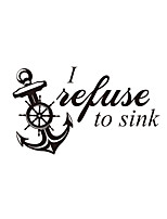 Wall Stickers Wall Decas Style Refuse English Words & Quotes PVC Wall Stickers