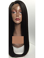 Long Straight Human Hair Wigs With Baby Hair Natural Hairline Unprocessed Lace Front Wigs For Black Women