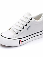 Women's Sneakers Spring Comfort Canvas Casual Red Dark Blue Black White