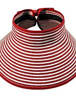 Striped Beach Empty Top Folding Straw Hats Beach Outdoor Tourism Wide Brim Hawaii Sun Hat