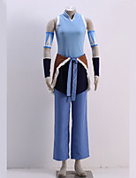 Inspired by The Legend of Korra Avatar Korra Costumes Cosplay Anime Video Suits Patchwork Coat Pants Sleeves Waist Accessory More Accessories For