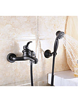 Antique Centerset Handshower Included with  Ceramic Valve Single Handle Two Holes for  Oil-rubbed Bronze  Bathtub Faucet