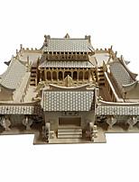 Quebra-cabeças Quebra-Cabeças 3D Blocos de construção Brinquedos Faça Você Mesmo Construções Famosas Arquitetura Chinesa MadeiraHobbies