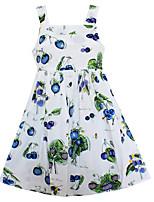 Vestido Chica de Floral Algodón Sin Mangas Verano Primavera