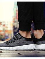 Men's Sneakers Comfort Canvas Spring Casual Comfort Black Gray Ruby Flat