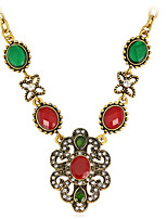 Dámské Náhrdelníky s přívěšky Štras Slitina Módní Euramerican Šperky Pro Svatební Zvláštní příležitosti Narozeniny Zásnuby Denní 1ks
