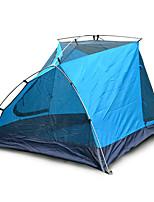 JUNGLEBOA 3-4 Pessoas Tenda Duplo Barracas para Acampamento Família Um Quarto Barraca de acampamento Oxford Poliéster TafetáÁ Prova de