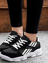 Women's Athletic Shoes Breathe Freely Flange Casual All Match Spring Fall Comfort Fabric Outdoor Athletic Low Heel Lace-up Red Black Walking