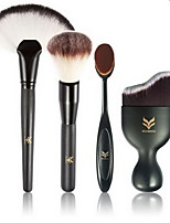 4pcs/Set Make Up Brush Foundation Brush Wood Plastic Handle Makeup Eyeshadow Cosmetic Blush Brush Set Maquiagem