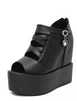 Damen-Sandalen-Lässig-PUKomfort-Weiß Schwarz