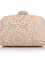 L.WEST Woman Fashion Diamonds Lace Evening Bag