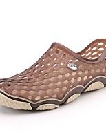 Homme-Extérieure Bureau & Travail Décontracté--Talon Plat-trou Chaussures-Sandales-Polyuréthane