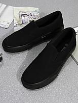 Белый Черный-Для женщин-Повседневный-ПолиуретанУдобная обувь-Мокасины и Свитер