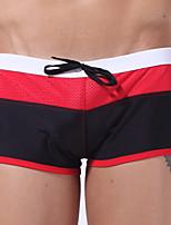 Homens Com Alças,Calcinhas, Shorts & Calças de Praia Com Laço,Náilon Elastano Color Block
