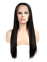 Прямые волосы парики шнурка передние бразильские remy естественная hairline с парик шнурка волос младенца полные для черных женщин