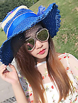 Straw Hat Big Travel Bowknot Lady Sun Hat Sunscreen Beach Hat