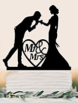 Mr & Mrs Heart Couple Cake Insert Row