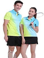 Unisex Running Summer Sports Wear Exercise & Fitness Polyester Slim Royal Blue Fuchsia Black