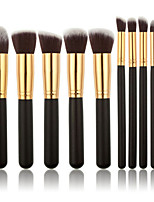 10Pcs Makeup Brush Sets Tools Cosmetic Brush Foundation Eyeshadow Eyeliner Lip Powder Brush  Maquillage