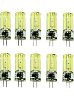 3W G4 LED Bi-pin Lights T 1 COB 430-550 lm Warm White Cool White Decorative AC220 V 10 pcs