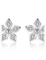 Stud Earrings AAA Cubic Zirconia Flowers 925 Sterling Silver Jewelry For Wedding Party Daily Casual 1 pair